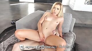 MyVeryFirstTime Blonde step sister Dakota Bleu first time camera fuck